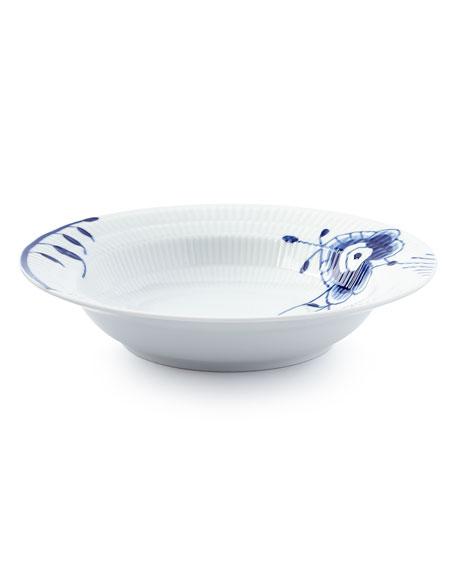 Blue Fluted Mega Rim Soup Bowl #6