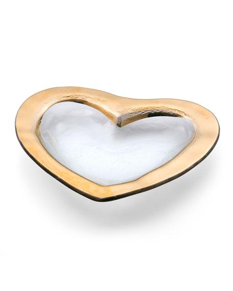 """Roman Antique Gold 8"""" Heart Bowl"""