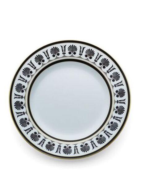 Palmette Black Dinner Plate