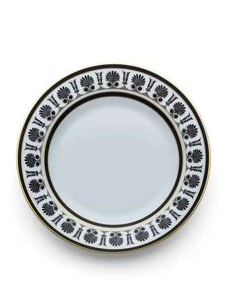 Richard Ginori 1735 Palmette Black Salad Plate