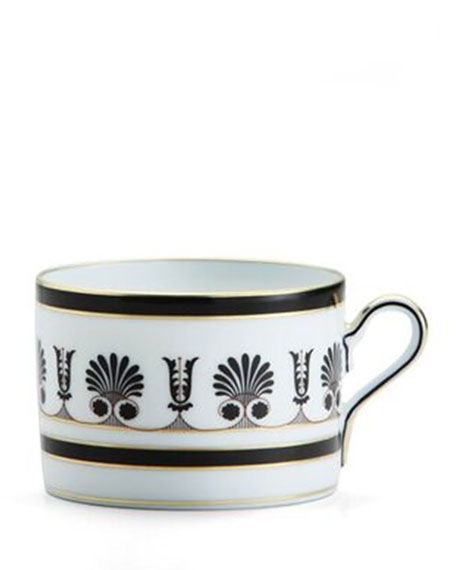 Richard Ginori 1735 Palmette Black Teacup