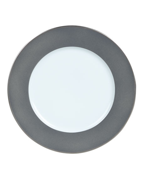 Color Block Gray/Platinum Salad Plate