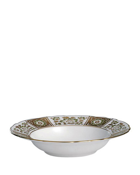 Derby Panel Green Rim Soup Bowl