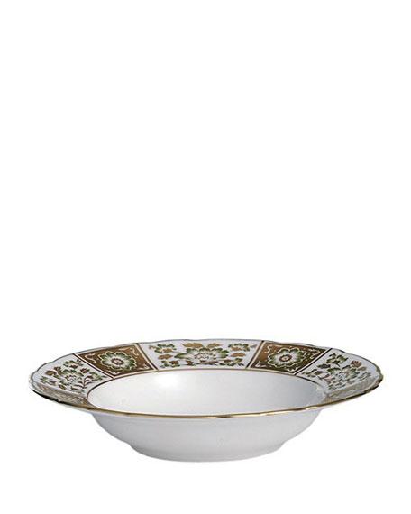 Derby Panel Green Rim Soup Bowl