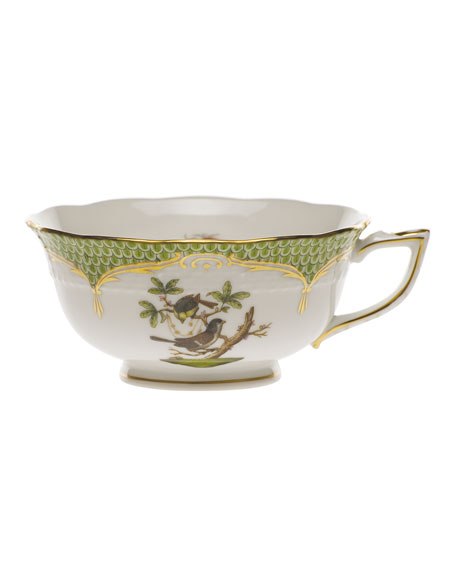 Herend Rothschild Bird Borders Green Teacup #1