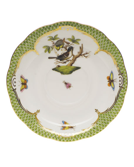 Herend Rothschild Bird Borders Green Tea Saucer #1