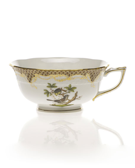 Herend Rothschild Bird Brown Tea Cup