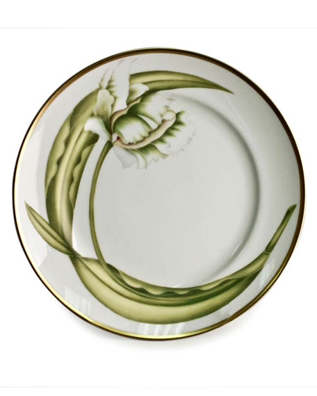 Anna Weatherley White Tulips Salad/Dessert Plate and Matching