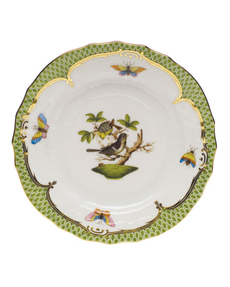 Rothschild Bird Borders Green Bread & Butter Plate #1