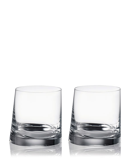 Rogaska 90 Degrees Double Old-Fashioned Glasses, Set of