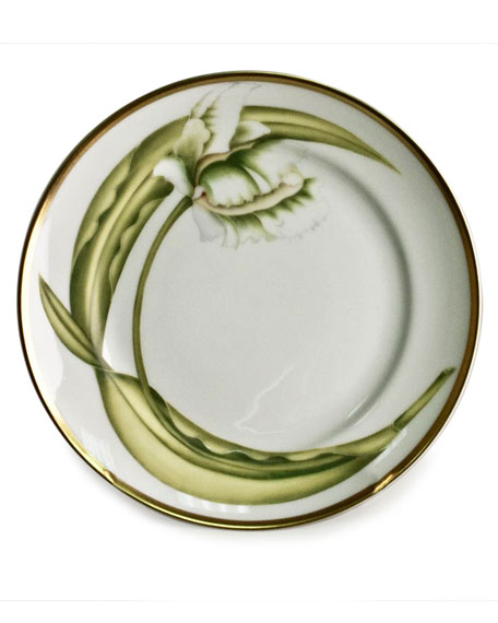 Anna Weatherley White Tulips Bread & Butter Plate