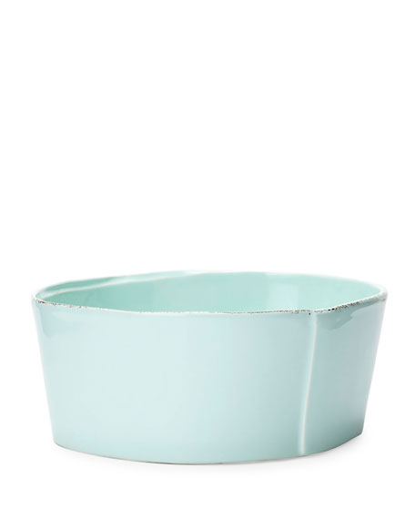Lastra Aqua Medium Serving Bowl