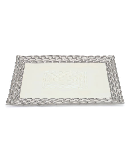 Truro Platinum Rectangular Tray