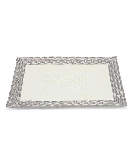 Truro Platinum Rectangular Tray