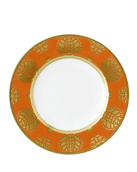 Royal Crown Derby Bristol Belle Orange Border Bread