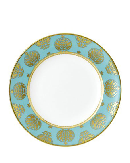 Royal Crown Derby Bristol Belle Turquoise Salad Plate