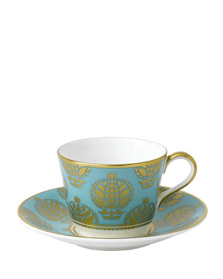 Bristol Belle Turquoise Saucer
