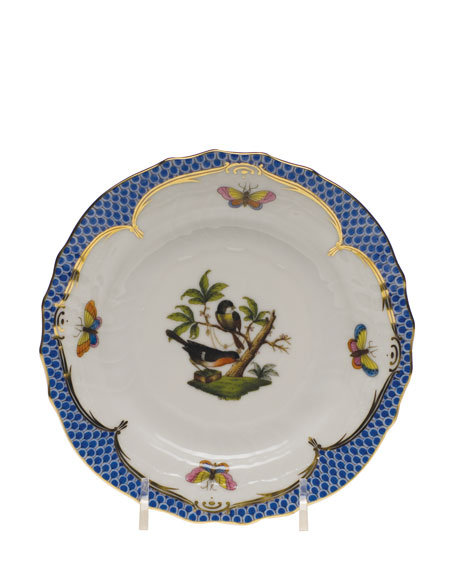 Herend Rothchilds Bird Blue Salad Plate and Matching