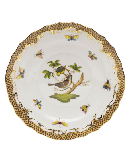 Rothschild Bird Borders Brown Salad Plate #1