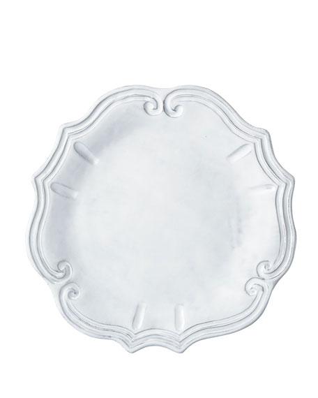 Incanto White Baroque Dinner Plate