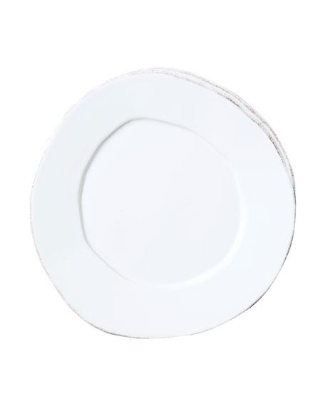 Lastra White Salad Plate