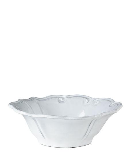 Incanto White Baroque Cereal Bowl