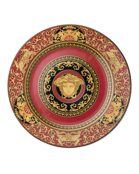 Medusa Red Charger Plate
