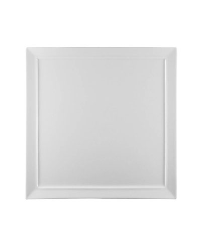 Fusion White Square Dinner Plate