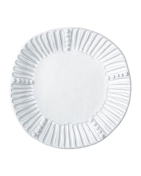 Incanto White Stripe Salad Plate
