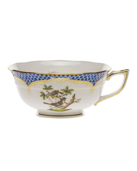 Rothschild Bird Borders Blue Teacup #1
