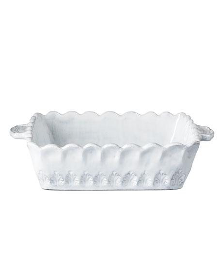 Vietri Incanto White Lace Small Square Baking Dish