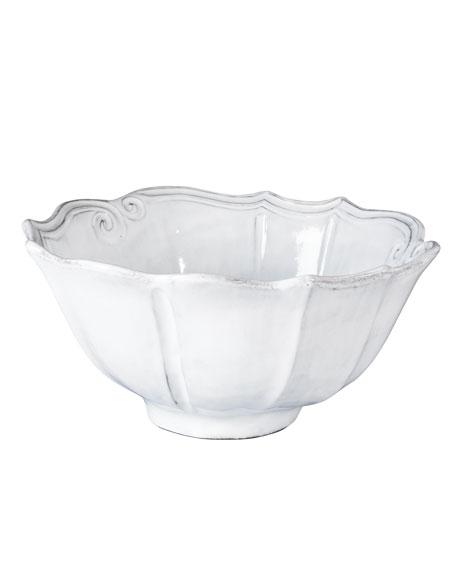 Incanto White Baroque Medium Serving Bowl