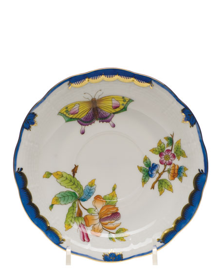 Herend Queen Victoria Blue Dinner Plate and Matching