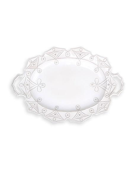 Jardins du Monde Whitewash Turkey Platter