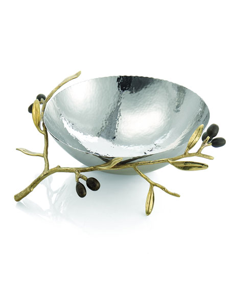 Michael Aram Gold Olive Branch Medium Serving Bowl