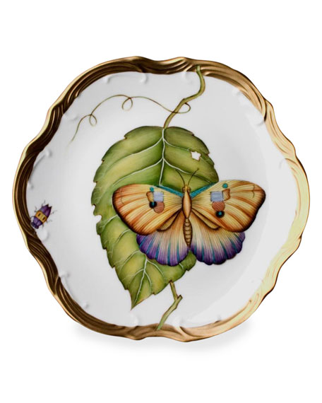 Anna Weatherley Exotic Butterflies Salad Plate and Matching