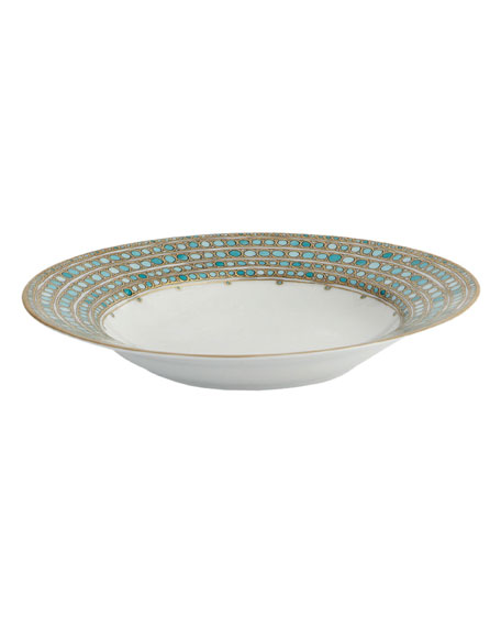 Syracuse Turquoise French Rim Soup Plate