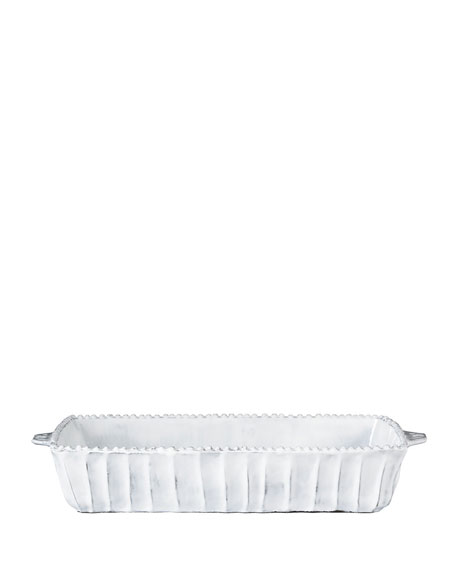 Incanto White Stripe Medium Baking Dish