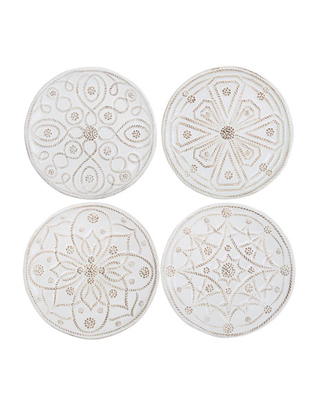 Juliska jardins du monde canape plates set of 4 for Canape plate sets