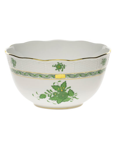 Chinese Bouquet Green Bowl