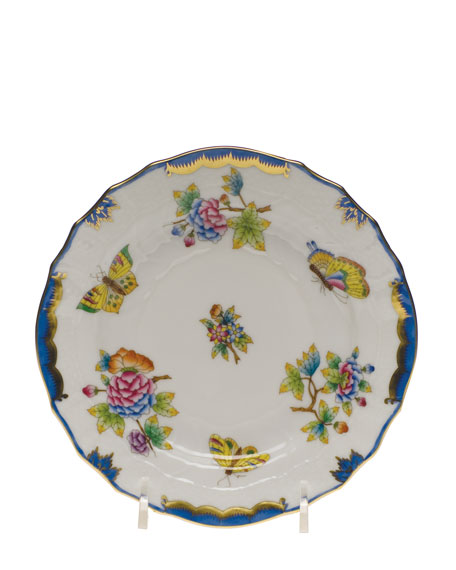 Herend Queen Victoria Blue Bread & Butter Plate