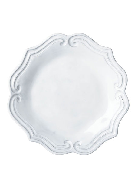 Incanto White Baroque Salad Plate