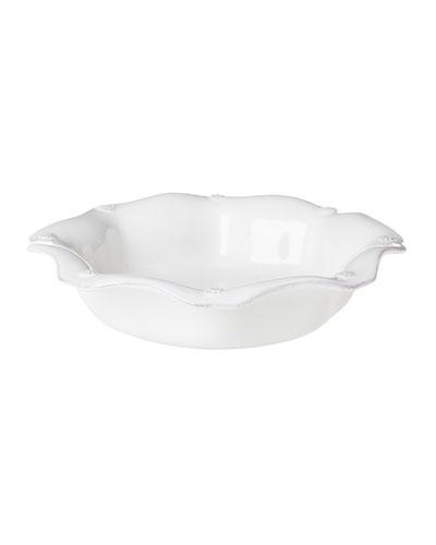 Berry & Thread White Scalloped Pasta Bowl