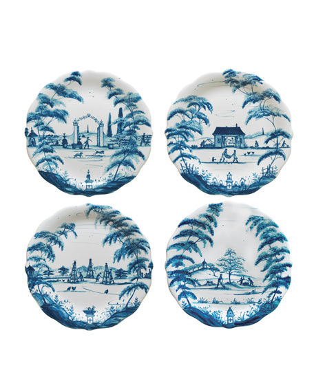 Juliska Country Estate Delft Blue Party Plates, 4-Piece