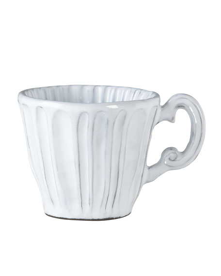 Vietri Incanto White Stripe Mug