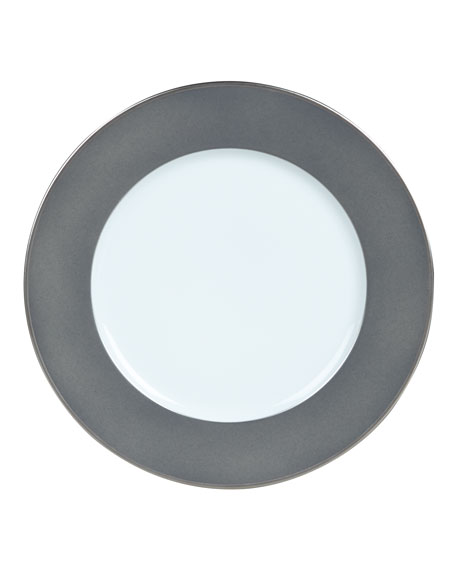 Color Block Gray/Platinum Dinner Plate