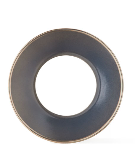 Haviland Color Block Gray/Platinum Saucer