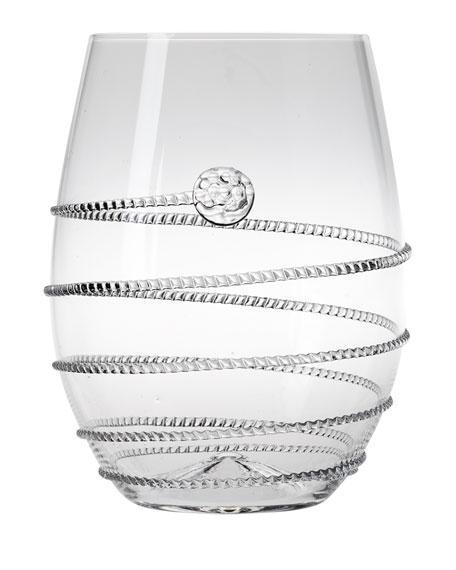 Juliska Amalia Stemless White Wine Glasses, Set of