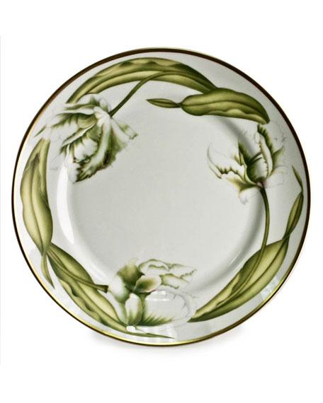 White Tulips Dinner Plate