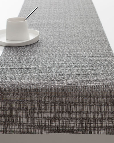 Graphite Glassweave Table Runner